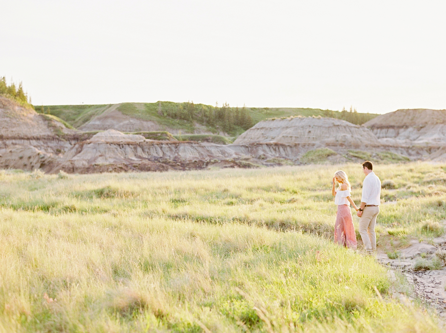 A Midsummer's Evening Badlands Engagement