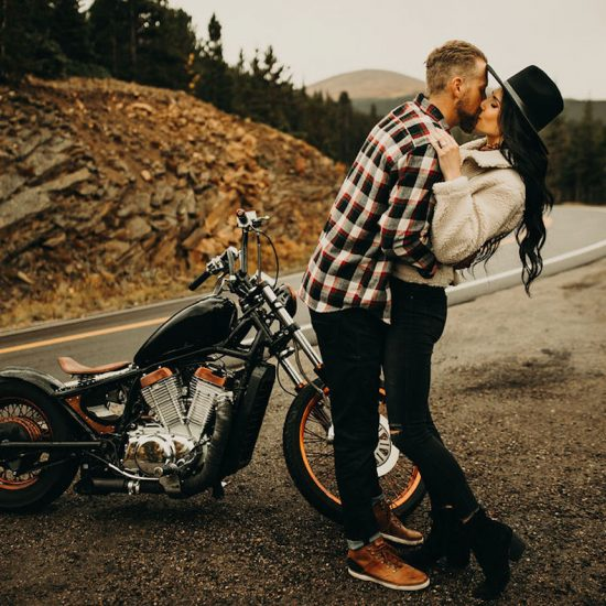 Edgy Mount Evans Engagement Inspiration