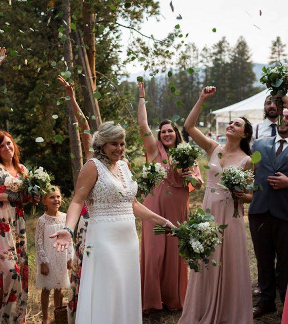 Rainy Boreas Pass Wedding Ceremony