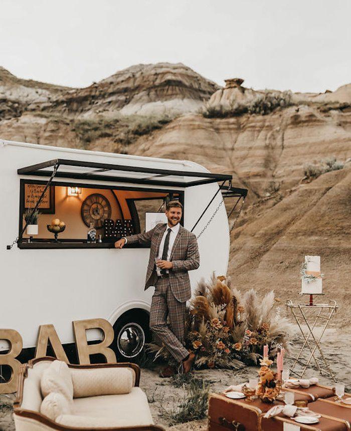 Salut Mobile Bar Wedding Reception Inspiration