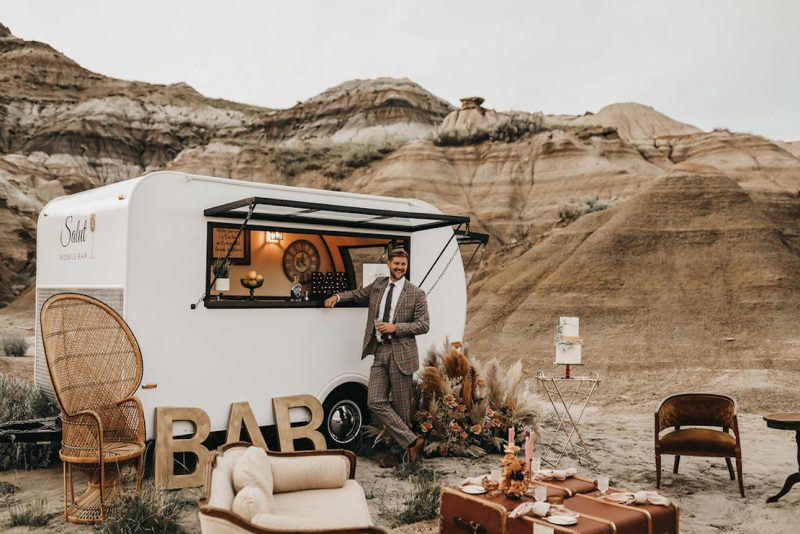 Salut Mobile Bar Wedding Reception Inspiration