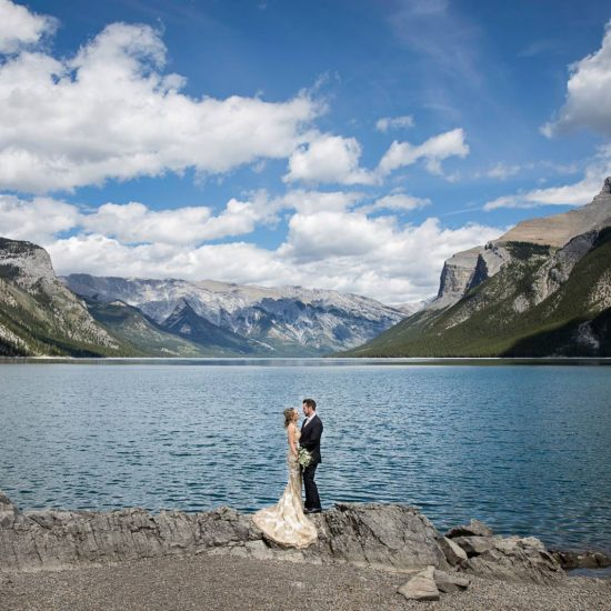 Black & Gold Banff Wedding Elopement | Banff