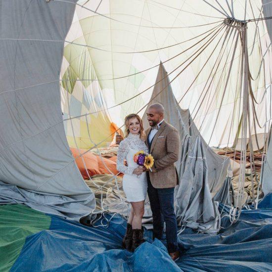 Colorado Hot Air Balloon Elopement