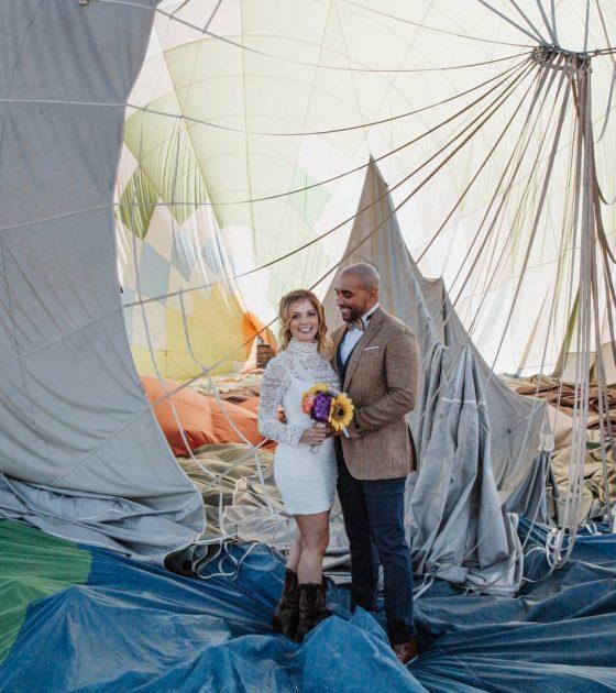 Colorado Hot Air Balloon Elopement |  Denver Elopement