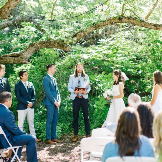 Backyard Garden Utah Wedding