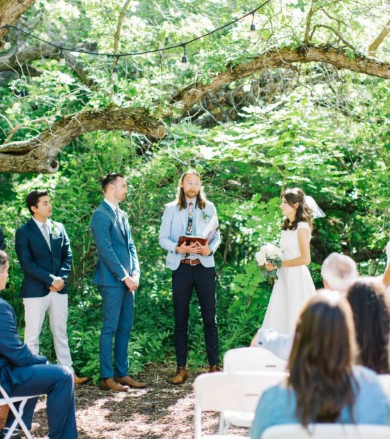 Backyard Garden Utah Wedding