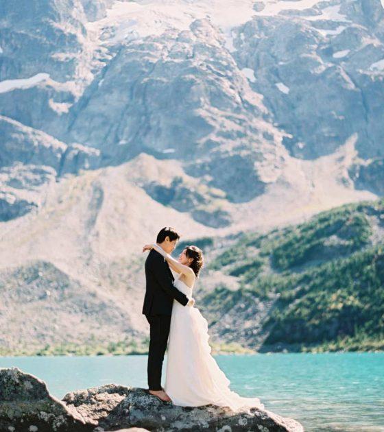 Joffre Lakes Wedding Portraits