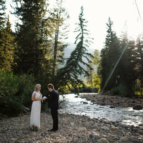 Uinta Mountains Riverside Elopement