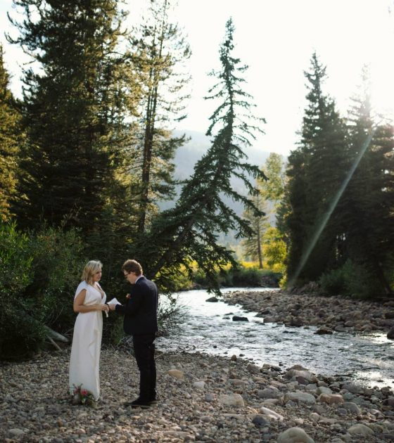 Uinta Mountains Riverside Elopement | Park City Elopement