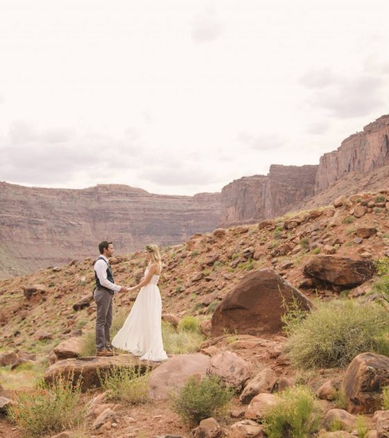 Moab Under Canvas Elopement | Moab Elopement
