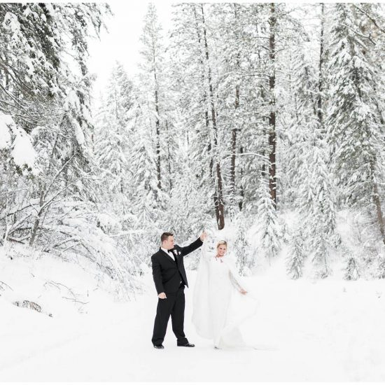 Downtown Missoula Winter Wedding