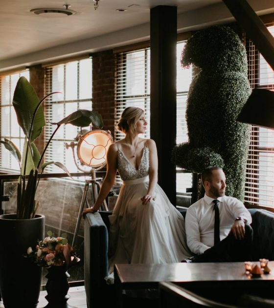 Simply Stunning Loft Wedding Inspiration