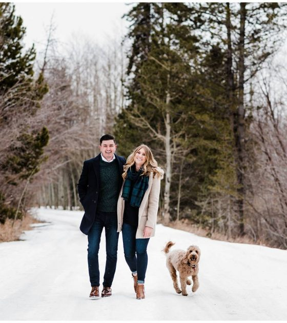 Breckenridge Snowy Engagement Session