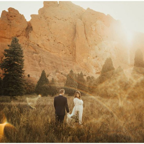 Garden of the Gods Sunset Wedding