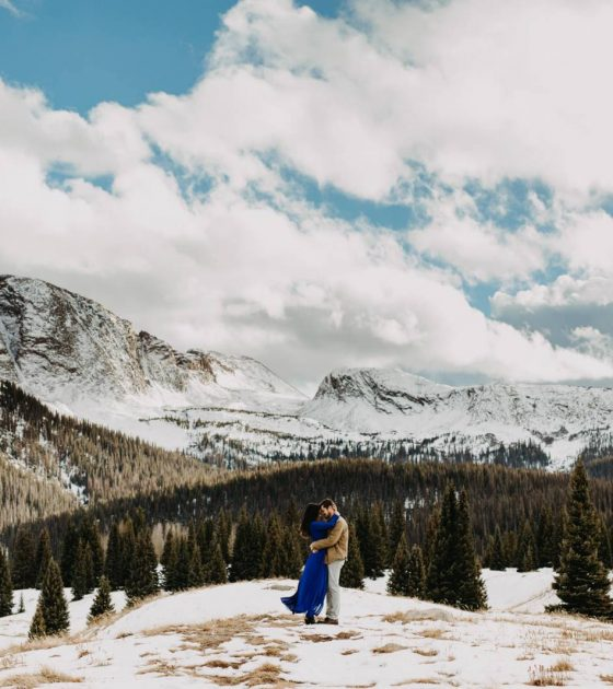 Colorado Snowy Winter Engagement