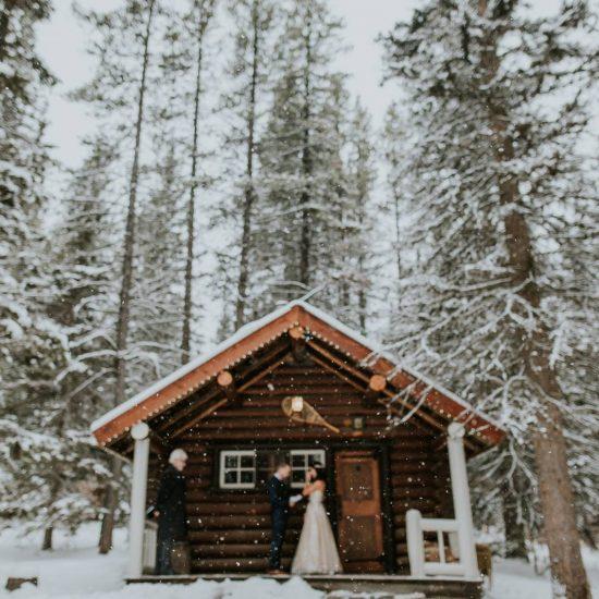 Snowy Banff Elopement