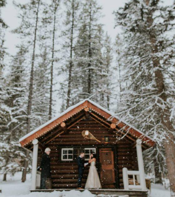Snowy Banff Elopement    BanffElopement