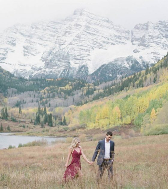 Colorful Maroon Bells Engagement