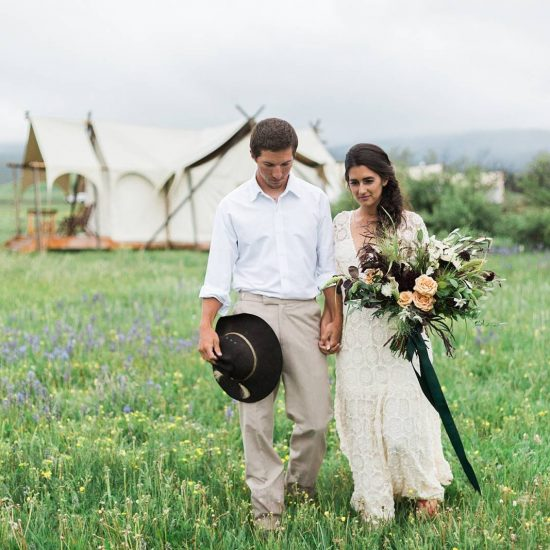Romantic Safari Wedding Inspiration in Montana