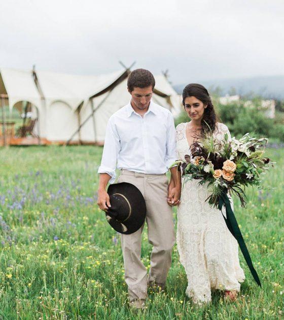 Romantic Safari Wedding Inspiration in Montana