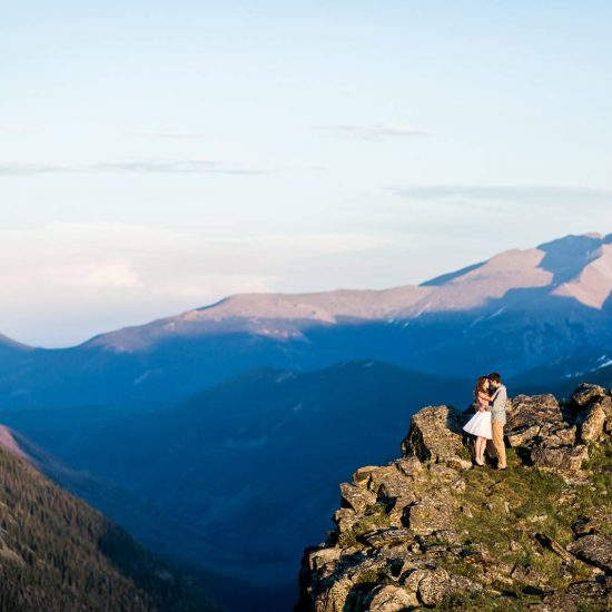 Colorado Summer Mountaintop Engagement