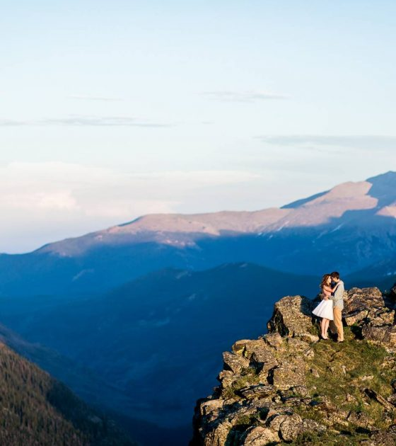 Colorado Summer Mountaintop Engagement