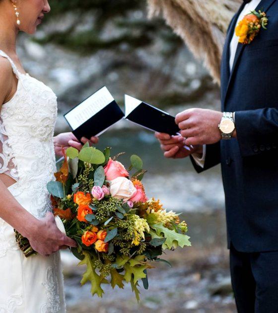 Earthy Peach Pampas Wedding Inspiration