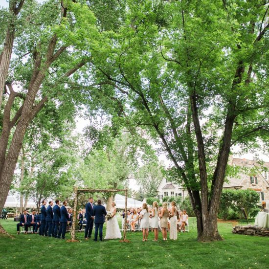 Private Denver Backyard Wedding