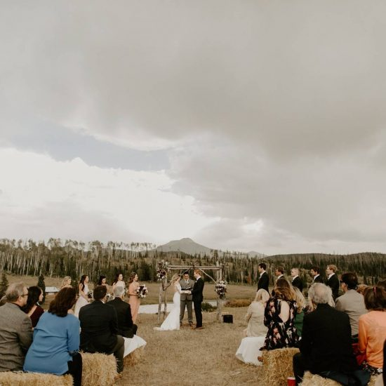 Gorgeous and Gloomy Colorado Ranch Wedding