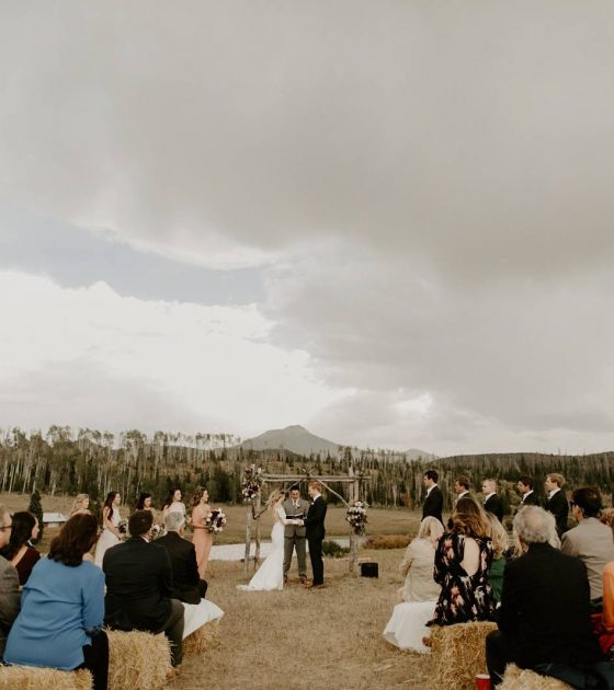 Gorgeous and Gloomy Colorado Ranch Wedding