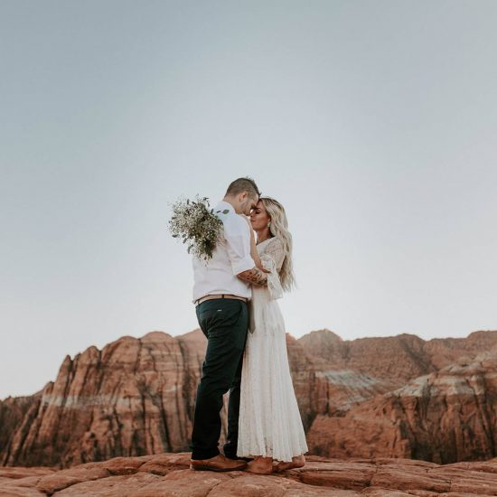 Fabulously Charming Snow Canyon Elopement