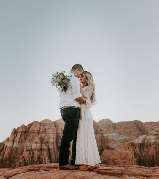 Fabulously Charming Snow Canyon Elopement | St George Elopement