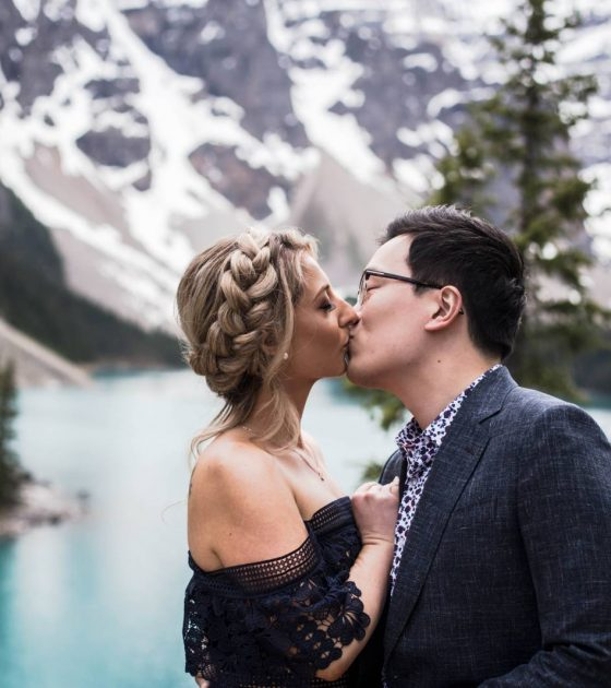 Dapper Moraine Lake Engagement Session