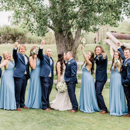 Southeast Idaho Blue and White Wedding