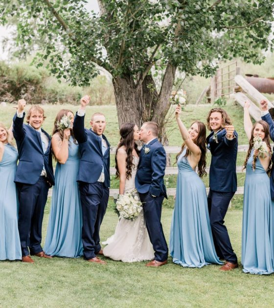 Southeast Idaho Blue and White Wedding