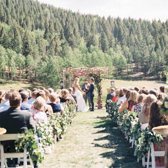 Outdoor Mountain Colorado Ranch Wedding