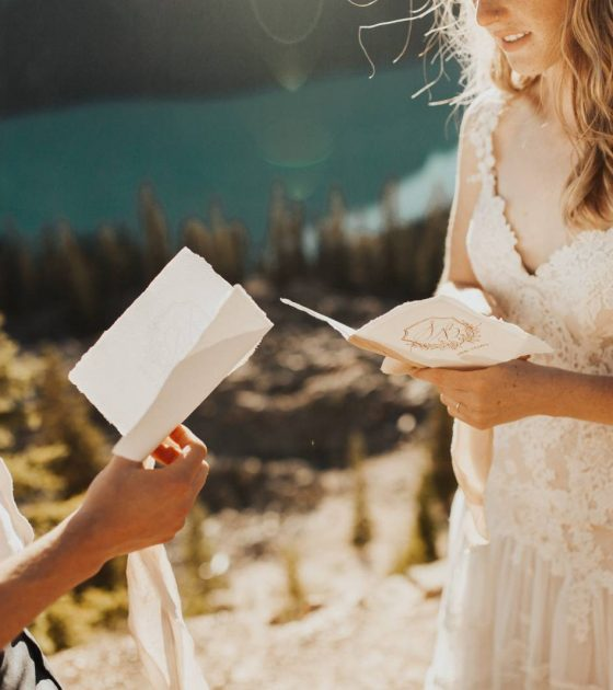 Petyo Lake Intimate Mountaintop Elopement |  Peyto Lake Elopement