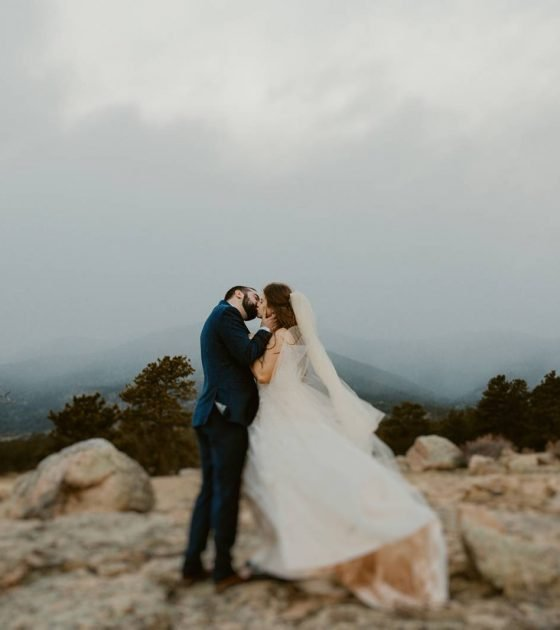 Stormy Rocky Mountain Intimate Wedding