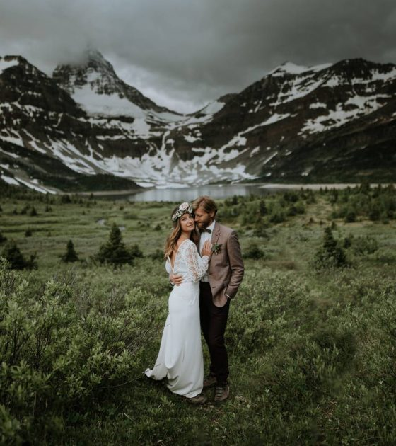 Outdoor Explorers Elope on Mount Assiniboine | Canmore Elopement