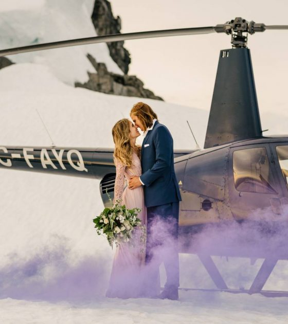 Styled Helicopter Engagement Shoot