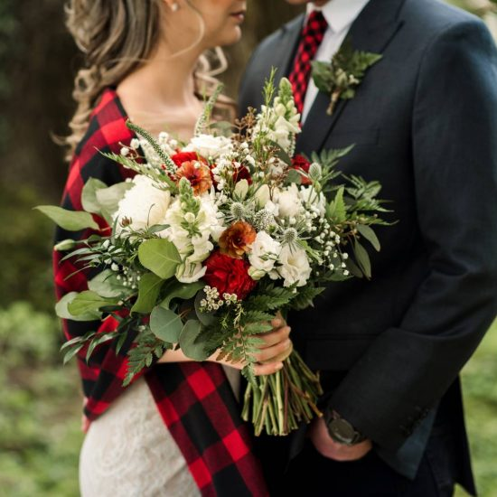 Buffalo Plaid Styled Wedding