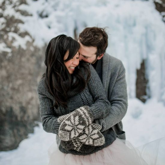 Winter Ice Cave Styled Elopement | Banff Elopement