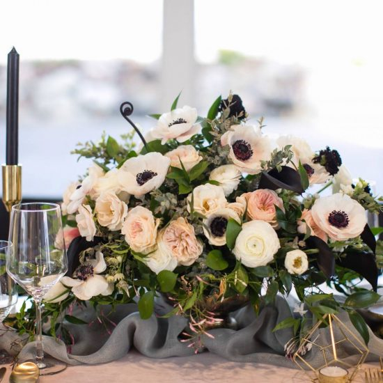 Blush and Black Wedding Inspiration