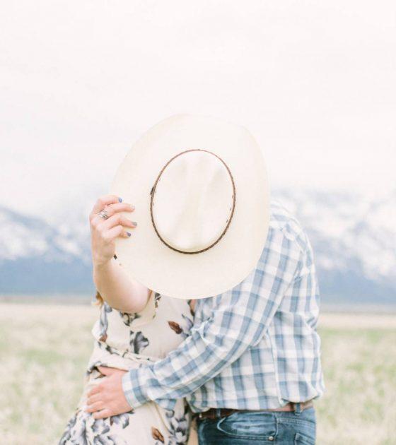 Western Fun Teton Engagement