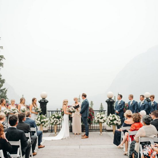 Smokey Banff Springs Wedding