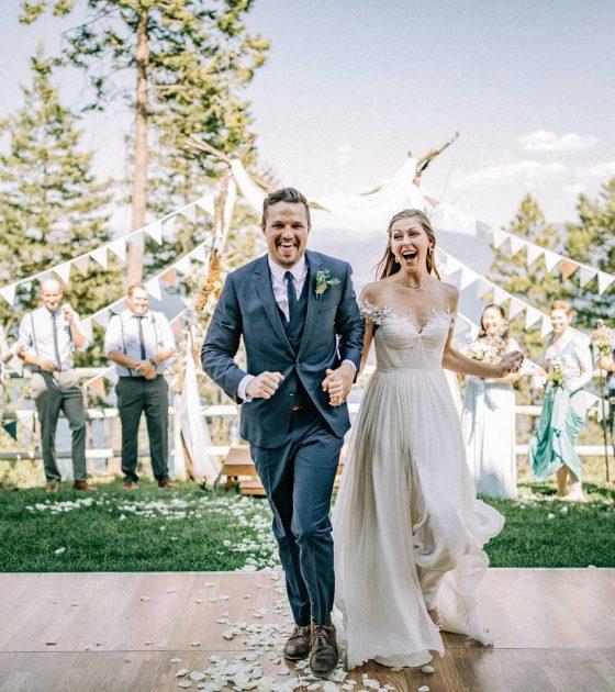 Flathead Lake Camp Wedding