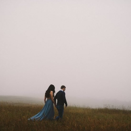 Foggy Calgary Engagement