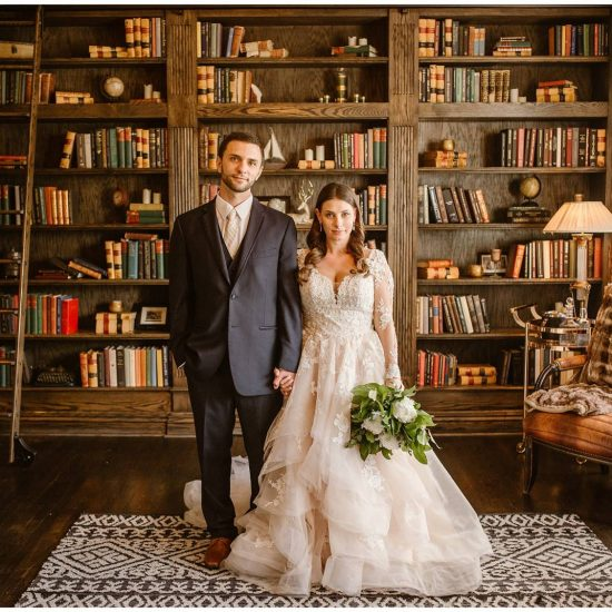A Library Inspired Wedding