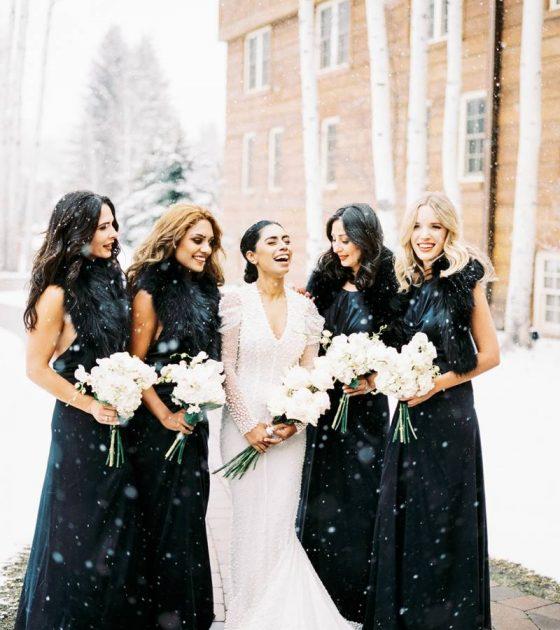 Snowy Sun Valley Winter Wedding