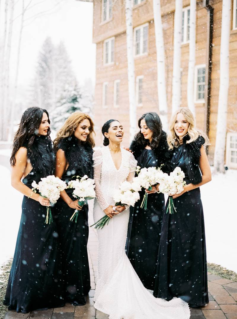 Snowy Sun Valley Winter Wedding